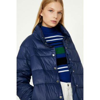 Women's Navy Blue Coat 9KAK23690GW