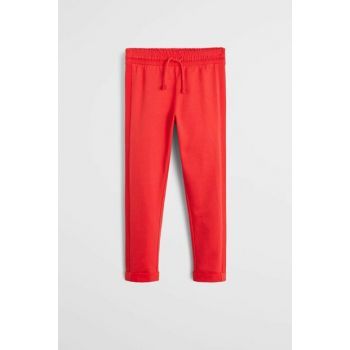Red Girl's Contrast Jogging Pants 53020819