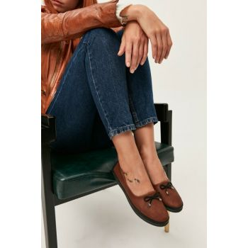Brown Women Flats 01AYY166760A370