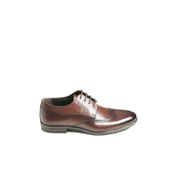 Genuine Leather Coffee Men Classic Shoes 5919118K