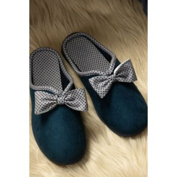 Women's Bow Slipper - Navy Blue 1KTERL0326-8682116106795