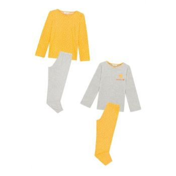 Girls' Multi-Color Earlybird Pajamas Set 4PCS PLCVQOXZ19SK-MIX