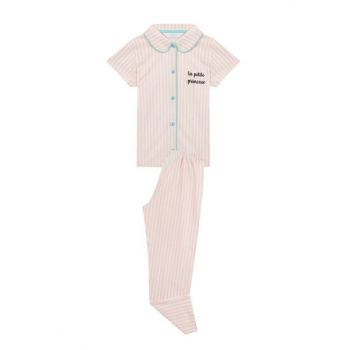 Girl Kids Dust Pink Princesse 2Li Pajamas Set PNJCAMTJ19SK-TZP