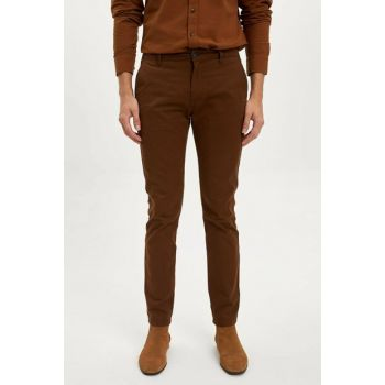 Men's Brown Slim Fit Trousers L5511AZ.19AU.BN424