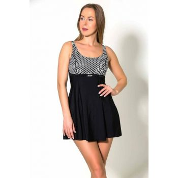 Women's Black Semi Covered Dress Swimwear UCCT19SSMYO035-293