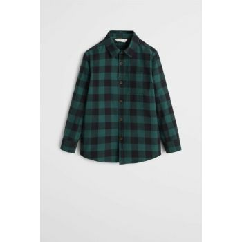 Green Boy Shirt with Chest Pockets 53025744