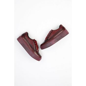 Maroon Women's Casual Shoes G0403110309