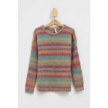 Turquoise Girl Children Color Sweater L3843A6.19AU.TR466