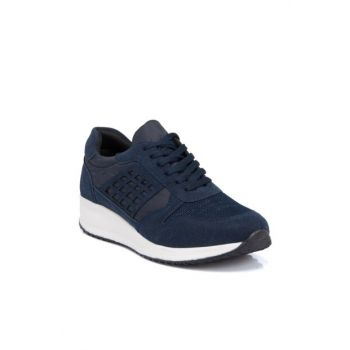 Navy Blue Textile Men's Shoes-54312I49 E19I1AY54312