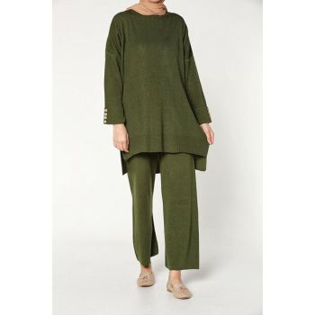 Women's Dark Green Pants Suit TT80233