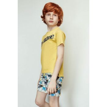 Boys' Yellow T-Shirt 19SS1NB3545