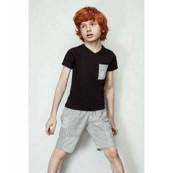 Boys Black T-Shirt 19SS2NB3574