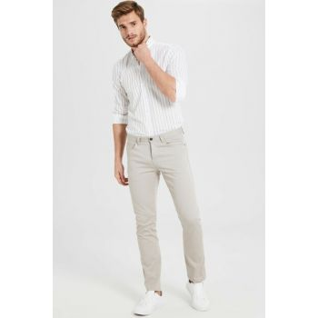 Men's Beige Trousers 9W0630Z8