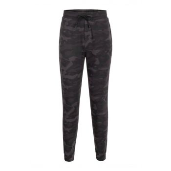 Men's Anthracite Camouflage Patterned Straight Cotton Trousers 356919