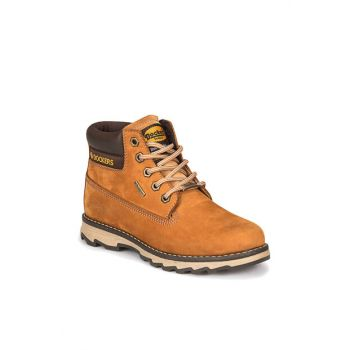 Cinnamon Boy Leather Worker Boots 219210