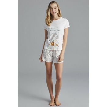 Women's Off White Anti Social Pajamas Set PNNQIXJI18SK-OWH