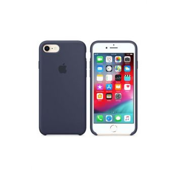 iPhone 7 Original Slim Silicone Rubber Case Back Cover - Navy Blue MMWF2ZM / A-2