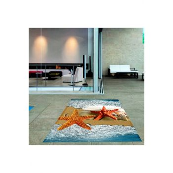 Digital Printed Carpet with Sea Star Pattern RSP000337