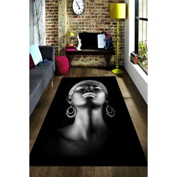 African Patterned Digital Printed Carpet with Earring RSP001621
