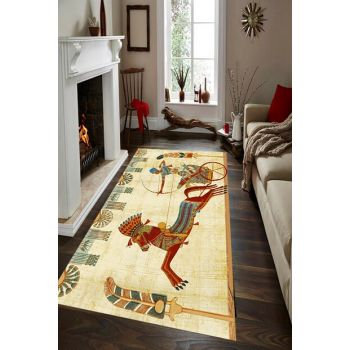 Egyptian Art Patterned Digital Printed Carpet RSP001491