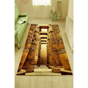 Ancient Egyptian Sarcophagus Patterned Digital Printed Carpet RSP001489
