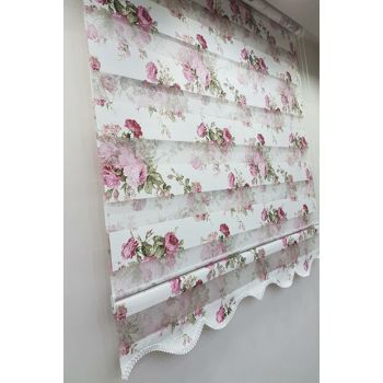 80 x 200 Flower Patterned Roller Blind Zebra Curtain MZ136 8605480706610