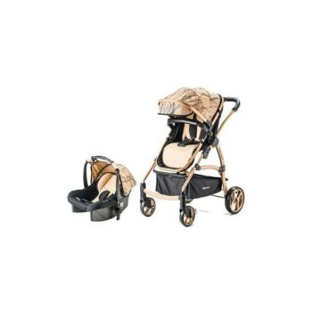 Bc-40 Astra Trio Travel System Baby Carriage Mustard Gold 8698943143773