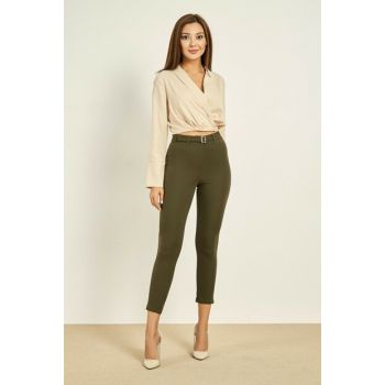 Front Trousers With Buckle - HAKİ - 20KPA768K101