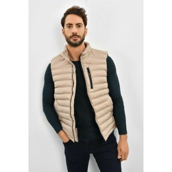 Men's Beige Inflatable Vest 9KEYLTEN001