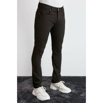 Black Men's 5 Pocket Skinny Pants TMNAW20PL0627