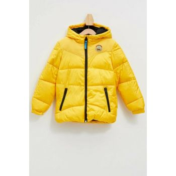 Hooded Inflatable Coat K8488A6.19AU.YL357