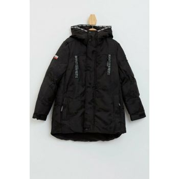 Stripe Detail Hooded Parka K8524A6.19WN.BK27