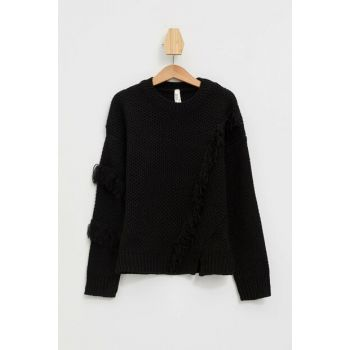 Black Girl's Tassel Sweater L3840A6.19AU.BK27
