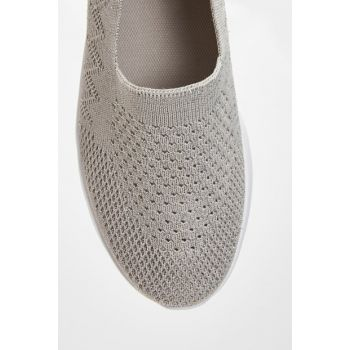 Women's Gray Flats 9SP956Z8