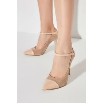 Beige Women Classic Heels Shoes TAKAW20TO0121