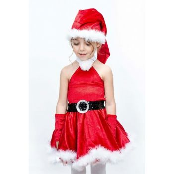 Velvet Dress Suit - Newyear 01 4 Age Girl Costume ST00044-5