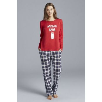 Women's Multicolor Bear Pajamas Set PNSPINZR19SK-MIX
