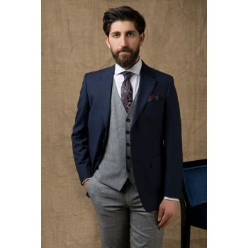 Men's Navy Blue Combined Suit 2DFK5GU22562_101