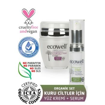 Organic Facial Treatment Set (Face Cream + Potion Serum) 8680624092524