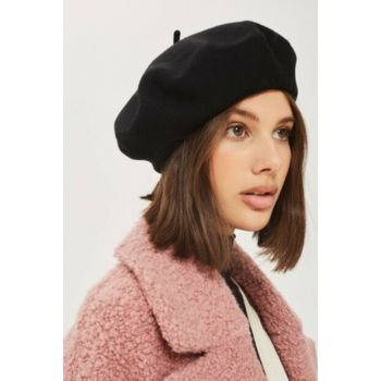 Black French Painter Beret Hat COSMOOUT5001