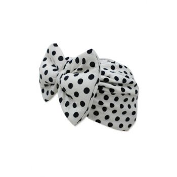 Baby Hat with White Bow with Black Medium Rating K2892 2892BM