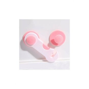 Pink Baby Safety Protection Child Lock 5 Pcs Pink_5