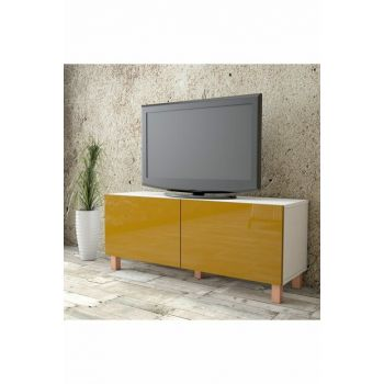 Aqua Tv Unit High Gloss 120cm 2 Cover Yellow AU2-W1K-YY 1286503