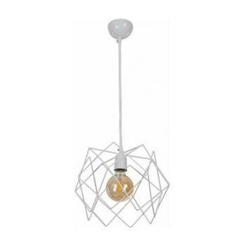 245 1PWHT Rustic White Pendant Lamp Single Chandelier 10607