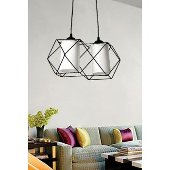 Mudulight Adjent 2Li Black Chandelier MDT239