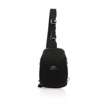 Unisex Black Shoulder Bag sg27092019-black