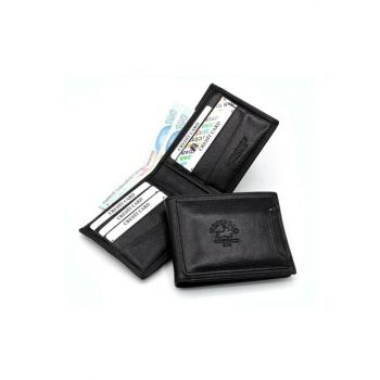 Genuine Leather Black Men Wallet Try595 TRY595