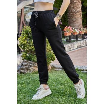 Women's Black Bottom Sweatpants 9KXK8-42256-02