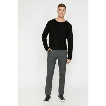 Men's Gray Pocket Detailed Trousers 0KAM41320NW