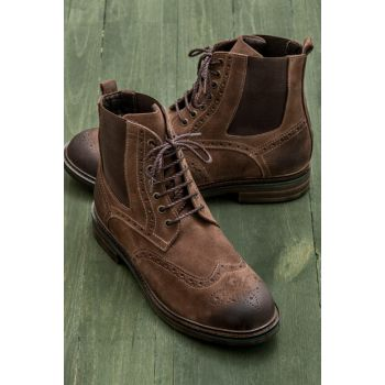 NORMAN Genuine Leather Taba Men Boots 18KSLDM-2151